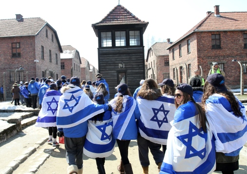 March of the Living at the site of former German Nazi death camp Auschwitz
