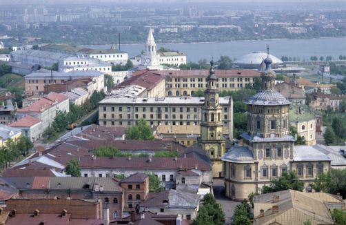 Панорамный вид города Казань