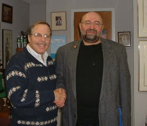 Rabbi Steven Moss (left) with Michel Dorfman