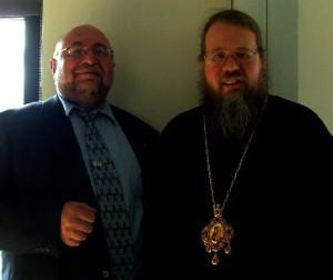 Михаэль Дорфман и Митрополит Иона, предстоятель Американской Православной Церкви